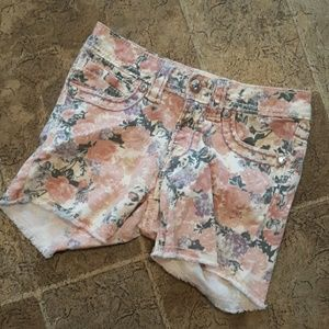 Miss Me girl's size 12 floral shorts
